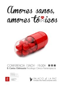 Conferencia amores sanos, amores tóxicos