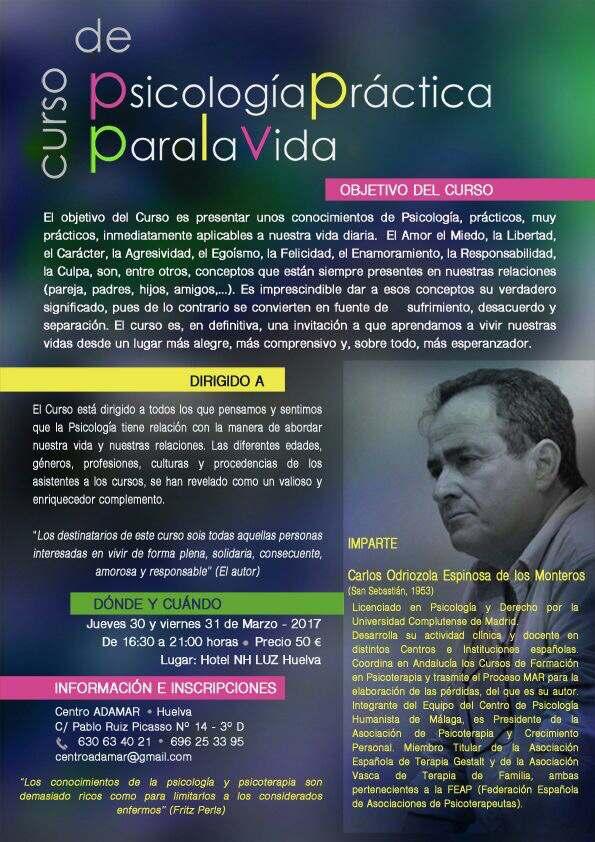 Curso de Psicología Práctica Para la Vida Huelva 2017